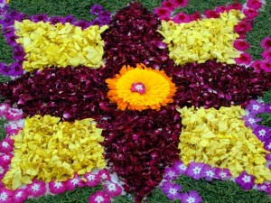 Bengali weddings rangoli